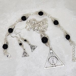 Harry Potter Deathly Hallows Jewelry Set